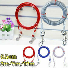 Pet Dog Garden Tie Out Lead Wire Cable Camping Outdoor Tie Out Lead Leash Cable