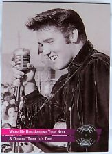 ELVIS PRESLEY GOLD AND PLATINUM RECORDS EMBOSSED RIVER GROUP TRADING CARD #32