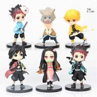 Figure Demon Slayer: Kimetsu no Yaiba Kamado Nezuko 6 PCS Anime Action Kids Toy