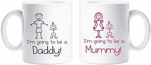 CiderPressMugs® I'm Going to be a Mummy Daddy Mug Set Cup New Parents Gift New