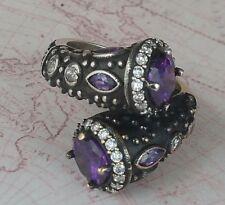 Authentic Turkish Amethyst Gemstone 925 Sterling Silver Women Ring Gemstone