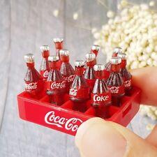 12 COCA-COLA COKE Bottle Tray Dollhouse Miniature Drink Beverage Soda Barbie Lot