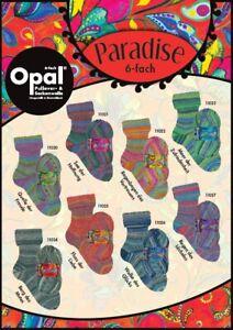 {7,50 €/100 g} Opal Sockenwolle 150 g PARADISE 6-fädig Strumpfwolle Sockengarn