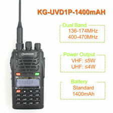 WOUXUN KG-UVD1P Dual Band Two Way Radio wit 1700mAh battery FM Transceiver UVD1P