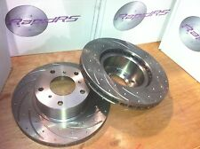 FORD BF FG BA (6 CYL) XR6T XR8 FRONT SLOTTED DISC BRAKE  ROTORS WITH BRAKE PADS