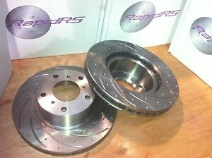 Honda Civic 2.0 Turbo Type R FK2 ,FK8 Front Slotted Brake Disc Rotors Pair 350mm