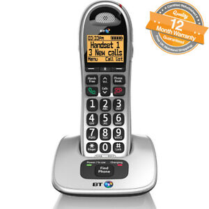 BT 4000 Big Button Dect Phone - Black/Silver (69264) Cordless Telephone
