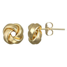 14k Yellow Gold Love Knot Stud Earring