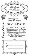 Graphic 45 Time to Celebrate Stamps Save the Date, Formal Invitation, Celebrate