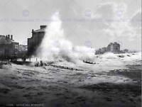 ROUGH SEA BOGNOR REGIS SUSSEX ENGLAND 1899 OLD BW PHOTO PRINT POSTER 1688BWB