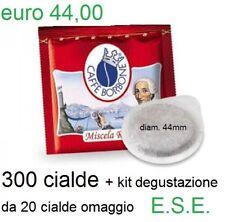 caffe 300+kit degustaz cialde Borbone miscela Rossa 44mm ESE compatibili mokona