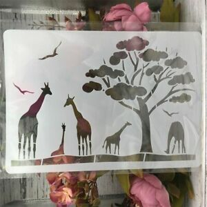 DIY Craft Giraffe African Stencils For Wall Painting Scrapbooking Craft Tools A4