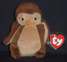 TY HOOT the OWL BEANIE BABY 3RD GEN HANG TAG MINT with NEAR MINT TAG - SEE PICS