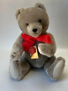 "Vintage Hermann Teddy Bear 1980's 15"" Grey Mohair Humpback West Germany"
