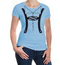 Damen Kurzarm Girlie T-Shirt Lederhose Oktoberfest Wiesn Tracht Bavaria Bayern