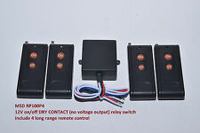 MSD 12V DC DRY CONTACT on off long range remote control relay switch RP100P4