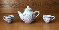 Disney Princess Teapot With Two Tea Cups Ariel Bell Aurora Cinderella Ceramic