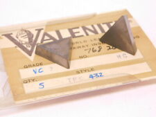 New Surplus 5pcs Valenite Tpg 432 Grade Vc2 Carbide Inserts