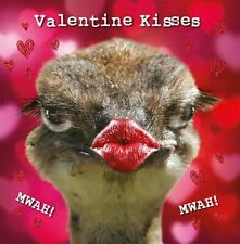 Valentines Day Card General Kissing Emu