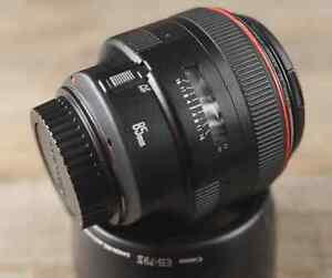 Canon EF 85mm f1.2L II USM Lens Good Condition
