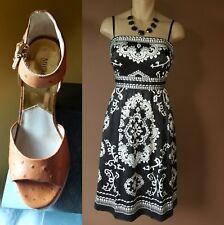 White House Black Market, whit and black dress, Sz 6