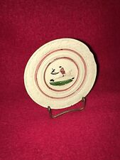Staffordshire Miniature Cup Plate Prattware Ca. 1820 Horse Rider Equestrian