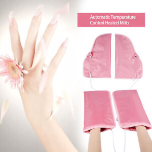 Electric Nail Manicure Gloves Heated Mitts / Foot Nail Art Therapy SPA Warmer UK