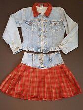 MGR Denim Jacket Skirt Set Women's Medium 5/6