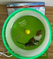 New Kaytee Hamster Silent Spinner 6 1/2 inch Exercise Wheel Neon Green