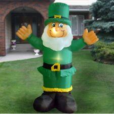 6 Ft St Patricks Day Lights Leprechaun Air Blown Inflatable Yard Decor