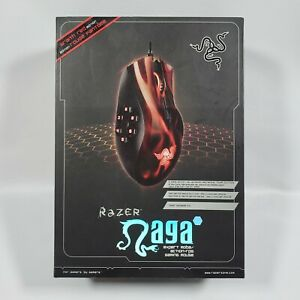 NEW RAZER NAGA HEX WRAITH RED LASER GAMING MOUSE PROGRAMMABLE BUTTONS MOBA RPG