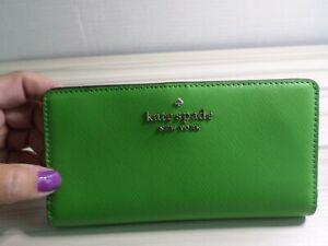 Kate Spade Staci Large Slim Bifold Wallet NEW MSRP $149 Turaco Green
