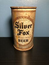 SILVER FOX FLAT TOP BEER CAN!