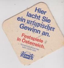 Bierdeckel / Beercoaster / Bierviltje Austria Zipfer 1986