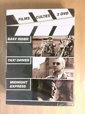 COFFRET 3 DVD FILMS CULTES / EASY RIDER + TAXI DRIVER + MIDNIGHT EXPRESS / NEUF