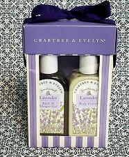 Crabtree & Evelyn Lavender Bath/Shower Gel & Body Lotion Set 5.1 oz Each