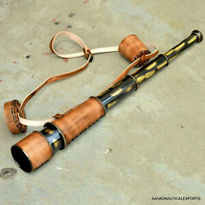 Nautical Marine Antique Telescope Vintage Maritime Victorian Brass Spyglass Gift