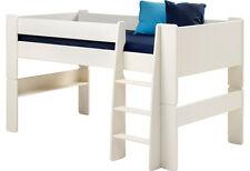 Steens Hochbett Kinderbett mit Lattenrost und Matratze weiß