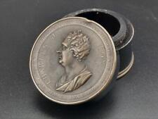 Georgian Bronze Ebony Commemorative Snuff Box Charles James Fox C1806