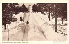 Lake Placid Club New York Toboggan Slide Snow Scene Antique Postcard K20300