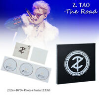 """Huang Zitao """"The Road"""" EXO-M Chinese DELUXE Ver Album 2CD+DVD+Photo+Poster Z.TAO"""
