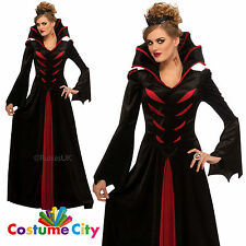 Womens Ladies Queen of the Vampires Halloween Fancy Dress Party Costume
