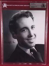 "BAS ENCAPSULATED CHRISTOPHER LEE signed 8""x10"" B&W photo Dracula Hammer Films"