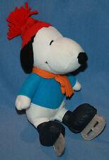 "Snoopy Plush Ice Skate Peanuts 9 1/2"" Stuffed Animal Dog Skating"