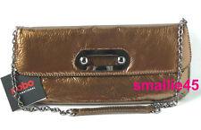 Hobo International Alicia Bronze Patent Soft Leather Clutch/Bag  -  NWT