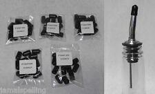 5 Dozen BLACK DUST CAP CAPS Liquor Bottle Pour Spout POURER COVER Fits 285-50