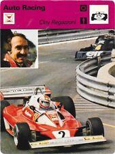 1977 Sportscaster Card Auto Racing Clay Regazzoni #04-01 NRMINT.