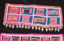 3 Vintage India Banjara Gypsy Tribal Textile Galla Pink Blue Purple Silver $35