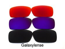 Galaxy Replacement Lenses For Oakley Crankcase Sunglasses Black&Purple&Red