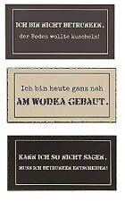 3er Set Metall Schilder Wodka Deko Blechschild mit Spruch